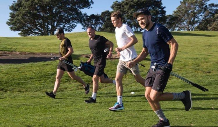 Golf day group running